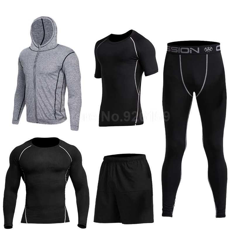 379cef69fd95 Мужская спортивная одежда тренировки; 2018 Vansydical для мужчин s спортивный  костюм бег костюмы 5 шт. Мужская спортивная одежда тренировки ...