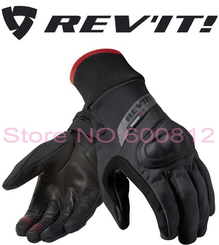 2016 New REV IT Crater WSP motorcycle riding gloves revit motorbike racing glove waterproof windproof black