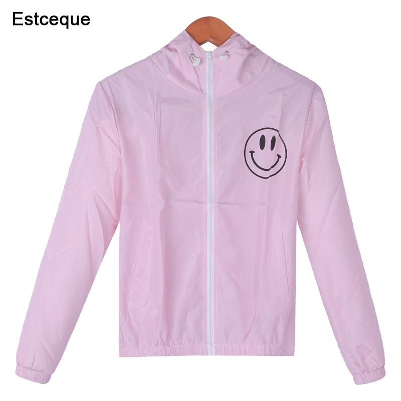 Jackets   Women New Fashion Women's Hooded   Basic     Jacket   Casual Thin Windbreaker Female Outwear Women Coat