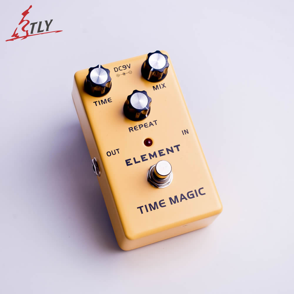 ELEMENT Time Magic Delay Guitar Effect Pedal True Bypass Aluminum Alloy Guitar Parts & Accessories joyo jf 304 new product time magic delay mini smart effect pedal analog sounding digital delay 600ms ture bypass free shipping