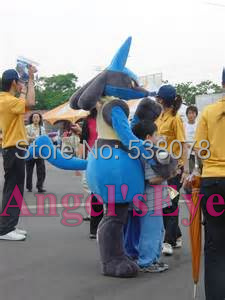 lucario mascot costume Hot Sale games Cartoon Character Theme Anime Cosplay mascotte Anime Fancy Dress Kits