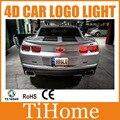 Free envio 4d levou logotipo do carro luz/lamp, 4d led carro luz crachá para chevrolet camaro e aveo