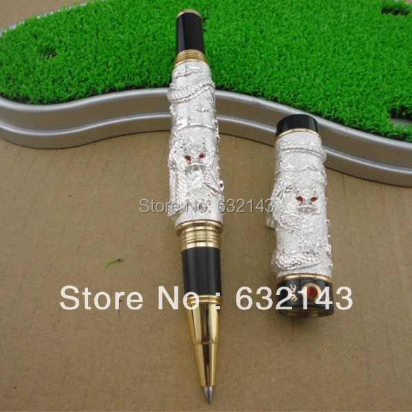 FREE SHIPPING JINHAO GOLDEN novelty Roller ball Pen TWO DRAGON PEN engraving PLAY PEARL executive Writing pen black  Refill leadership and performance in public secondary schools in kenya