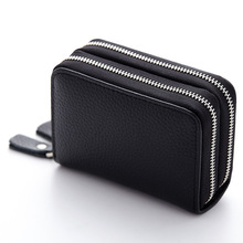 WUSWUX Genuine Leather business credit card wallet ID holder High Quality Female Credit Card Holder trunk Women Organizer Purse 2017 genuine leather women men id card holder coin purse card wallet credit card business card holder protector organizer hb43