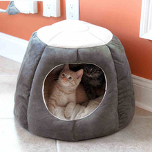 Pet Dog Cat Beds Mats puppy House Nest Kennel winter Keep warm Cat sleeping bag Semi-closed Cat tent Pet Accessories Supplies soft dog beds winter warm print kennel pet mats puppy beds dog house outdoor pet products home decoration accessories atb 272