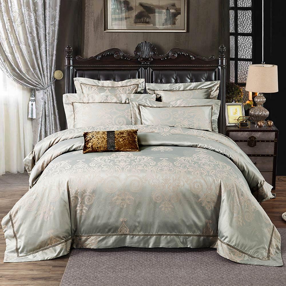 Svetanya Jacquard Bettwasche Queen Bett Sets King Size Bett Kopfkissenbezug Bettbezug Luxus