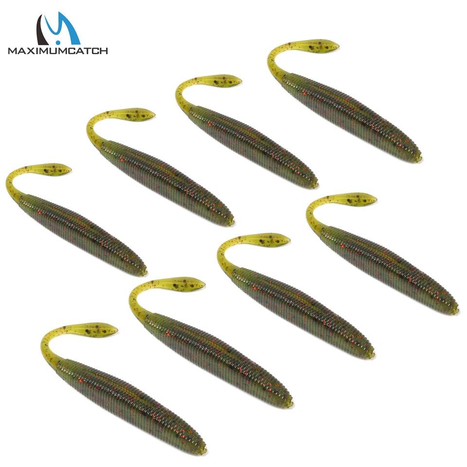 Maximumcatch 8Pcs/Lot Soft Jerkbait Fishing Lures 90mm 4.5g Artificial Bait Soft Bait Soft Fishing Lures