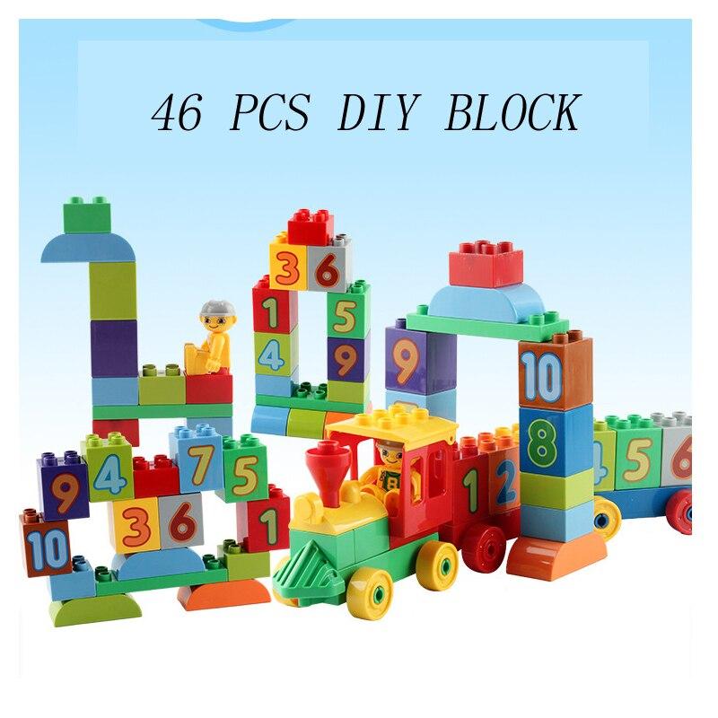 46 Pieces Large Building Color Blocks Diy Creative Bricks