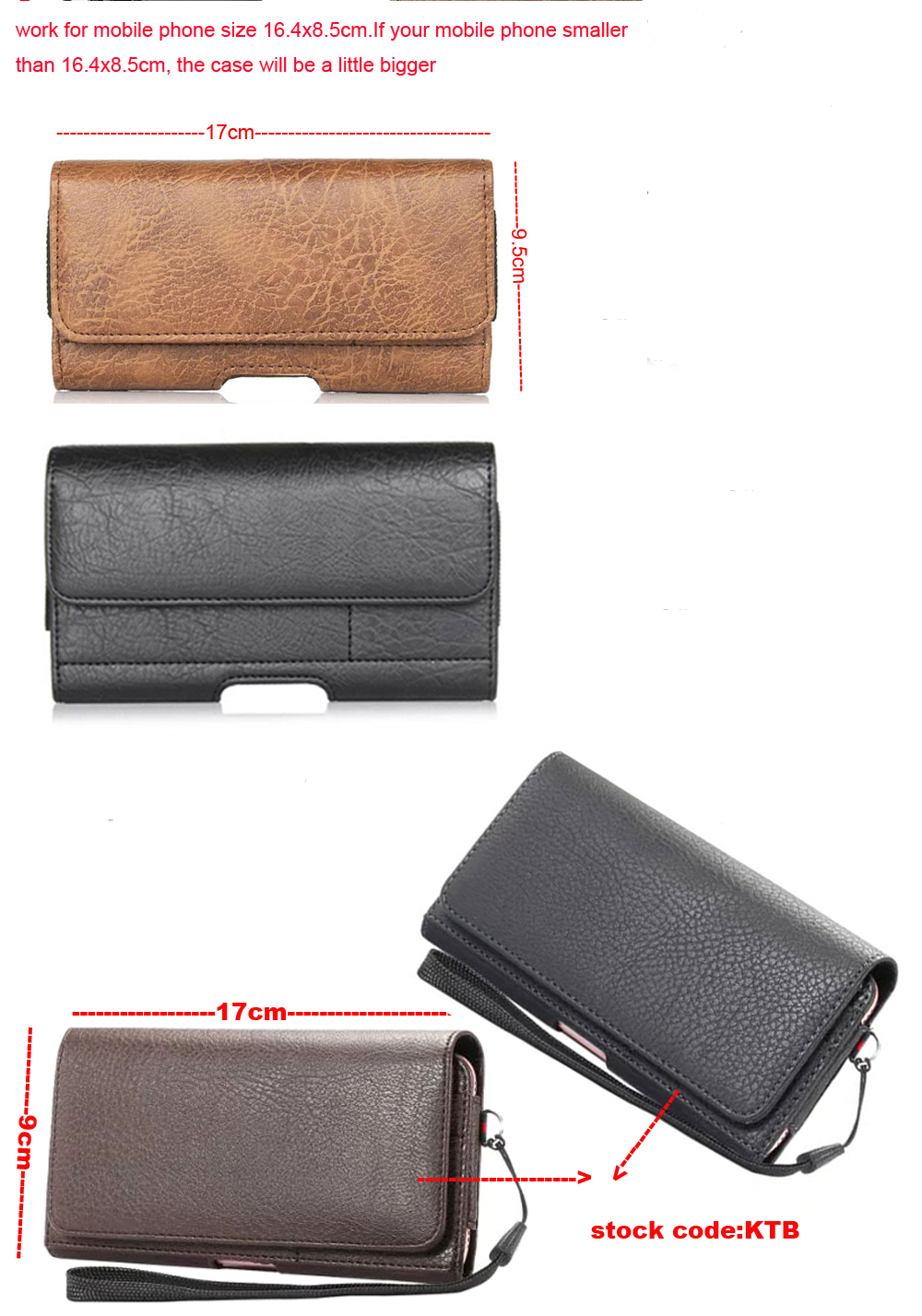 Horizontal Man Belt Clip Sports Artificial Mobile Phone Leather Case Card Pouch For Vivo X9s Plus