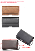Horizontal Man Belt Clip Sports Artificial Mobile Phone Leather Case Card Pouch For Vivo X9s Plus