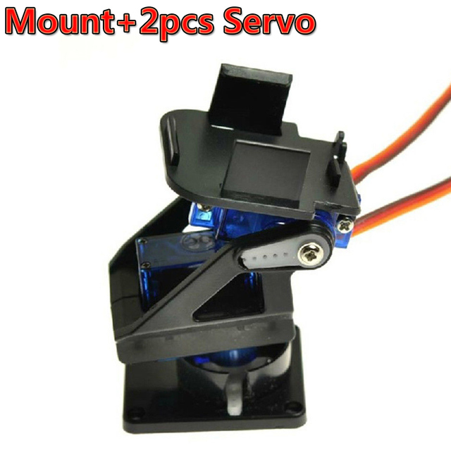 1 Set PT Pan/Tilt Camera Platform Anti-Vibration Camera Mount for Aircraft FPV + 2pcs SG90 9g Servo