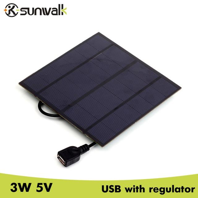 Sunwalk 10pcs Mini 3w 5v Polysilicon Solar Panel Charger