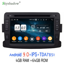 DSP TDA7851 HD Android 9.0 pour Renault Duster 2012 2013 64GB ROM lecteur DVD de voiture GPS Glonass carte RDS Radio wifi Bluetooth 4.2(China)