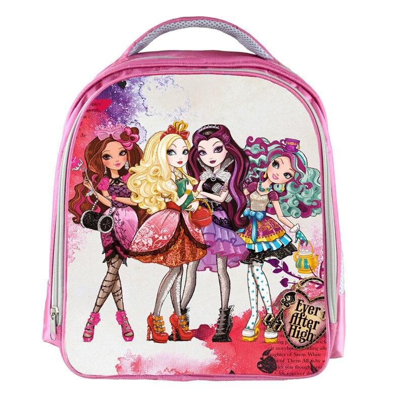 Moive Monster High lovely Pink Waterproof Backpack Students School Bag For Girls Rucksack mochila children Backpack customize hot sale high quality ultra light waterproof child school bag lovely children backpack girls backpack grade class 1 6