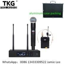 Profesjonalny występ na scenie QLXD4 uhf profesjonalny mikrofon bezprzewodowy system uchwyt zestaw słuchawkowy z mikrofonem mic