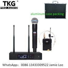 professional stage performance QLXD4 uhf professional wireless microphone system handhold headset microphone mic