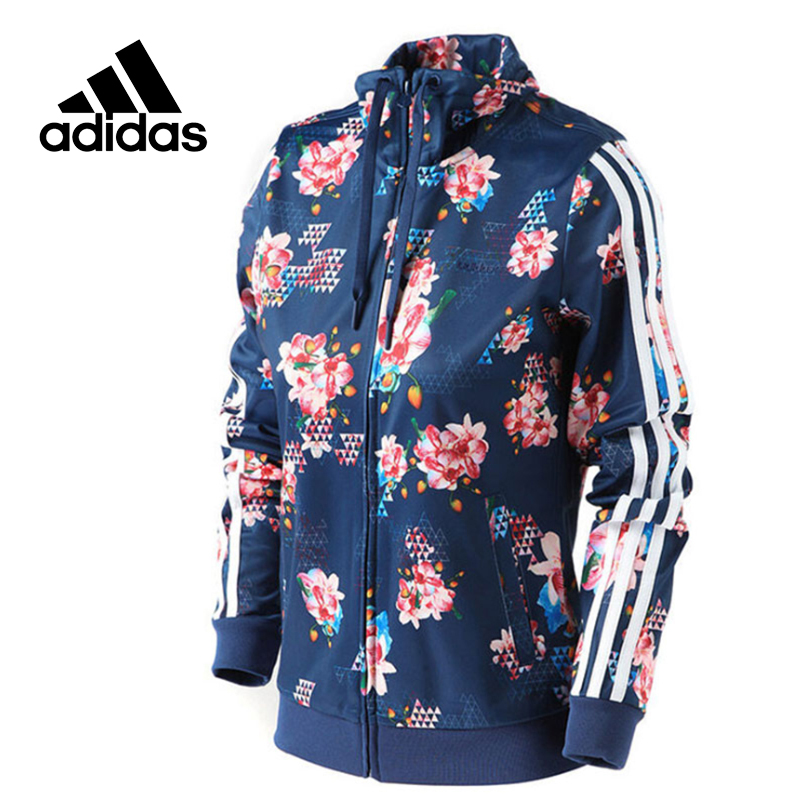 Adidas Original New Arrival Official NOE Women's Jacket Windproof Stand Collar Sportswear BK6814 rose print voile splicing stand collar zip up jacket