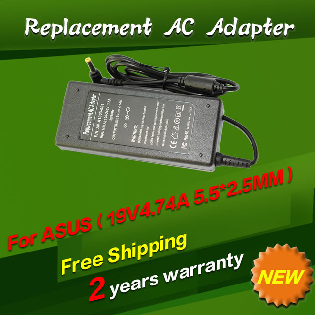 19V 4.74A 5.5*2.5MM 90W Replacement For Asus F3S A52J N61J X61S N52J k70a N60D K61IC Laptop AC Charger Power Adapter