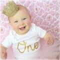 Tela de alta Calidad Trenza de Oro Corona Diadema Para Bebé Fiesta de Cumpleaños Del Niño Recién Nacido Venda Elástico Del Pelo de Headwear