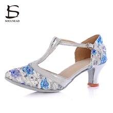 2017 Hot Sale Adult Woman Ladies Ballroom Latino Dancing Shoes Tango Salsa High Heel Jive Chacha Samba Professional Dance Shoes