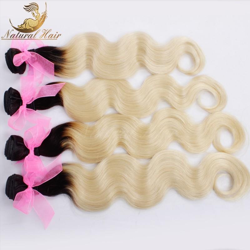 7A Brazilian Virgin Hair Body Wave Ombre Hair Extensions Ombre Brazilian Hair Weave Bundles 4pcs Human Hair Extension Soft