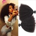 Mongol Afro Crespo Encaracolado Virgem Cabelo Afro Kinky Do Cabelo Humano Weave 4 bundles Afro Kinky Curly Virgem Cabelo Rosa Cabelo produtos