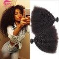 Mongol Afro Rizado Pelo Virginal rizado Afro Rizado Cabello Humano Weave 4 bundles Afro Rizado Rizado Pelo de la Virgen Rosa Cabello productos