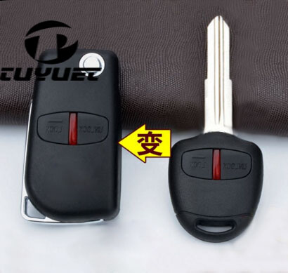 2 Tasten Blank Geändert Flip Folding Fernschlüsselshell Fall für Mitsubishi Neue ASX GRANDIS Outlander EX-GALANT Rechten Schlüsselblatt