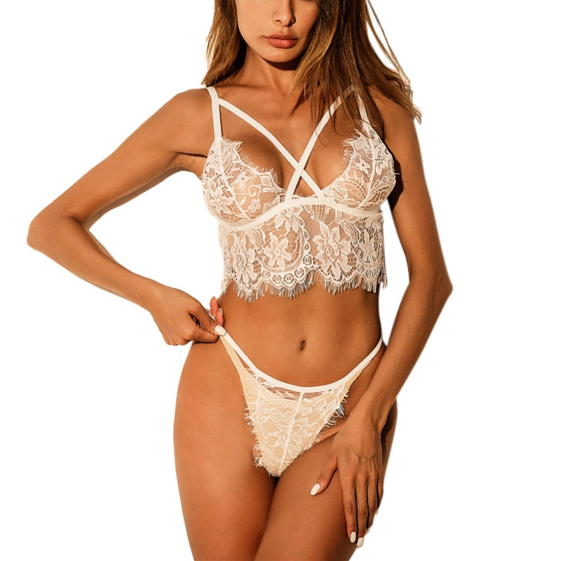 Sexy Women Bras Set Lace Bralette Adjustable Shoulder Strap Top Hollow Out Lingeries Seamless Intimates Underwear Porno Costumes