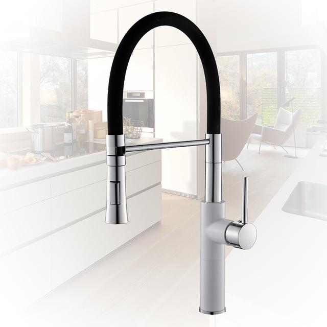 Chrome Kitchen Sink Crane Deck Mount