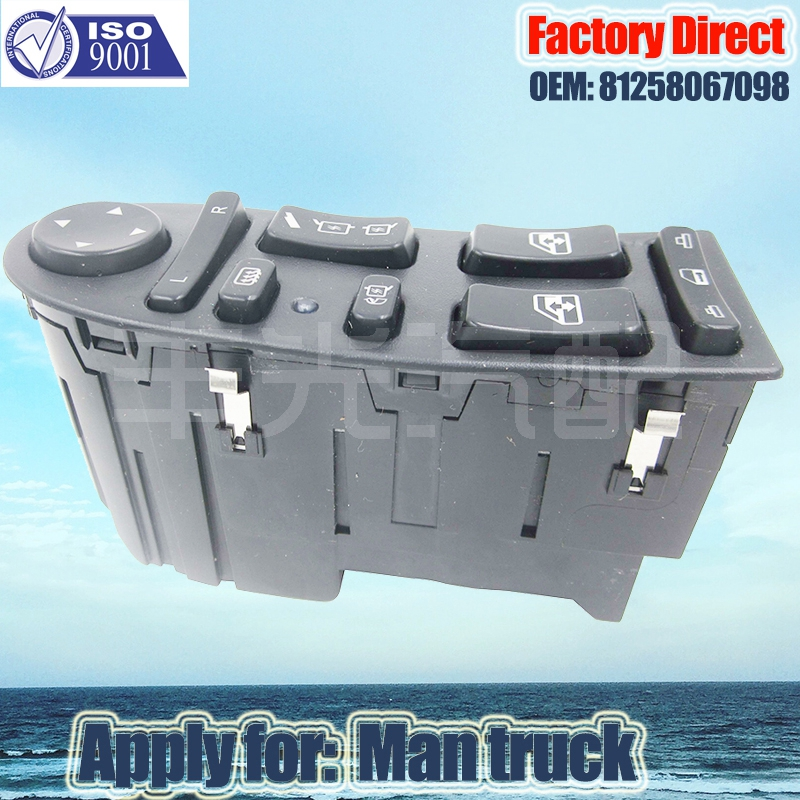 Factory Direct Auto Power Window Lifter Control Switch apply For MAN TGA TGX 81258067045 81258067098 LHD free shipping for kia sportage door window switch with side mirror switch window lifter switch
