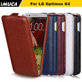 Para lg g2 case capa flip de luxo para lg g2 d800 D802/G2 Mini D618 D620 Virar Casos Capa iMuca marca de telefonia móvel acessórios