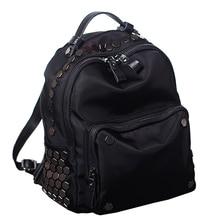 Заклепки женщины сумку 2017 новая мода Корейской версии водонепроницаемый ткань Оксфорд плеча сумку дикого отдыха и путешествий рюкзак