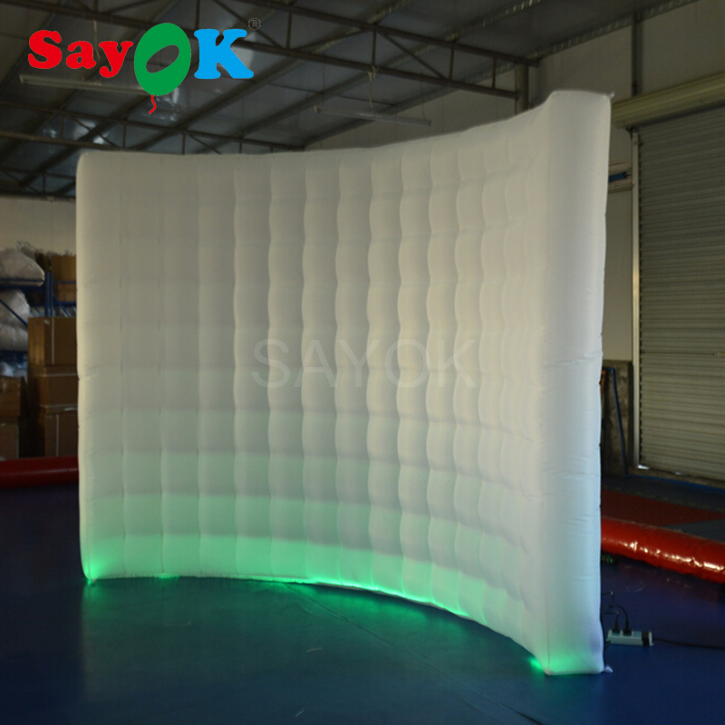 Customized led inflatable photo booth wall photo booth backdrop for wedding party promotion(3x1x2.3mH)Customized led inflatable photo booth wall photo booth backdrop for wedding party promotion(3x1x2.3mH)