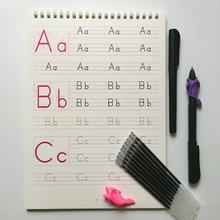 1 шт. детский Алфавит ABC groove тетрадь английский 26 Алфавит тетрадь детский сад Дошкольный для написания текста