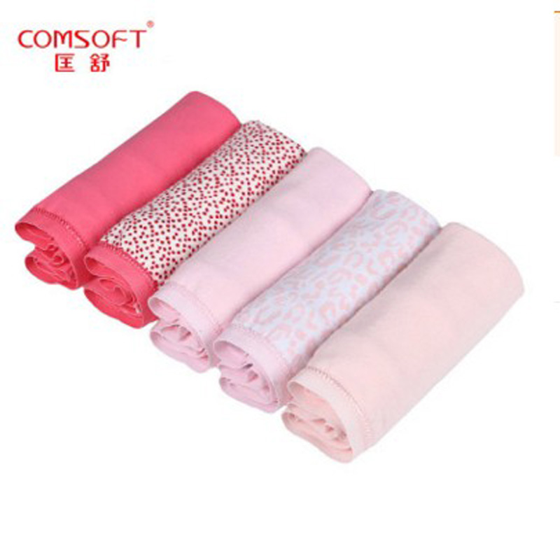 Comsoft New Arrival 5PCS Women Briefs Ladies cotton panties high waist plus size L,XL,XXL,XXXL,XXXXL loose bragas for Mom