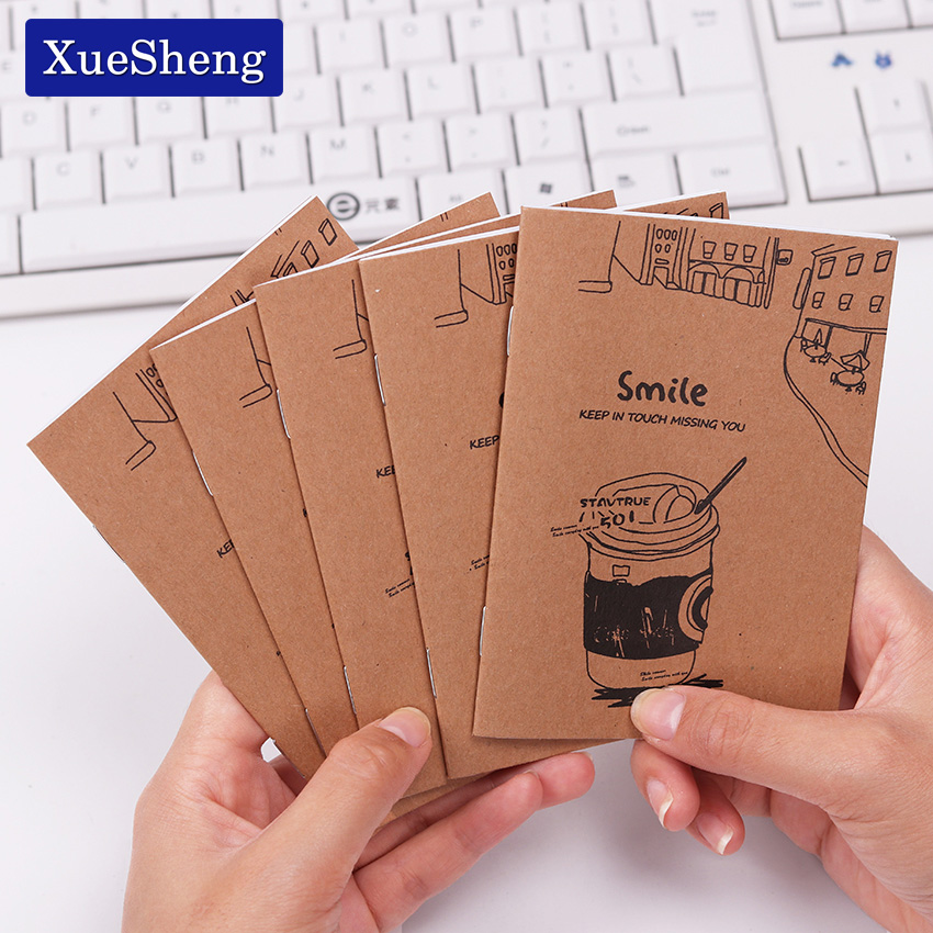 Retro Notebook Creative Mini Kraft Paper Blank Cup Notepad For Kids Student Gift Stationery
