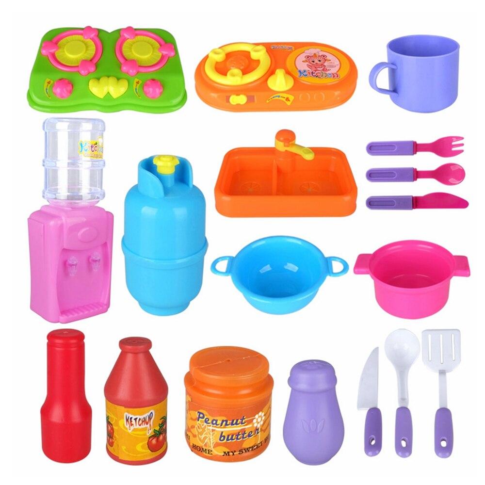 16 pzset bambini casa bambini cucina giocattoli per la ragazza di cottura piatti di