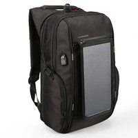 Kingsons 15 17 Laptop Backpack External USB Charge Backpacks Solar Battery Charging Anti Theft Waterproof Bags