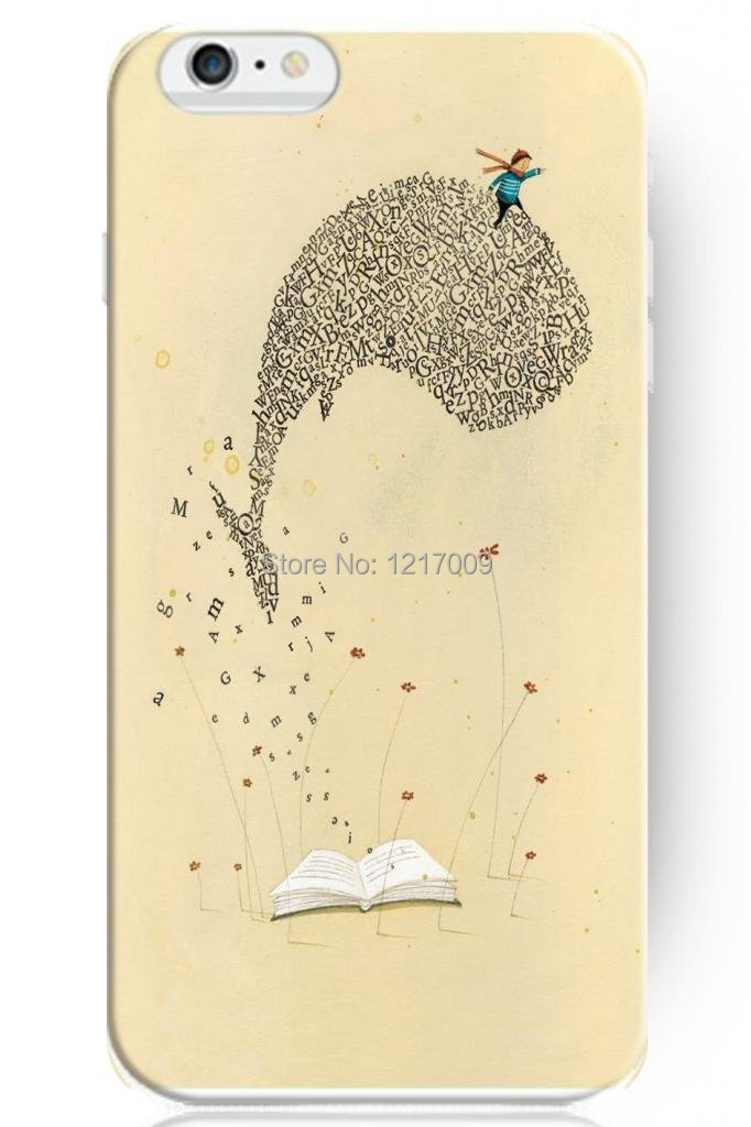 Text Book Whale Flying In The Sky Flying Flowers Knowledge Has <font><b>Led</b></font> Mood Hard <font><b>Case</b></font> For <font><b>iphone</b></font> 4/4s/5/5s/5c/6/6s/6plus/6s plus