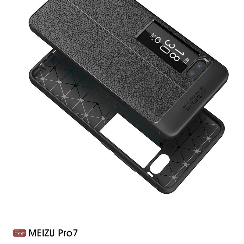 Litchi leather silicone case Meizu Pro 7 (2)