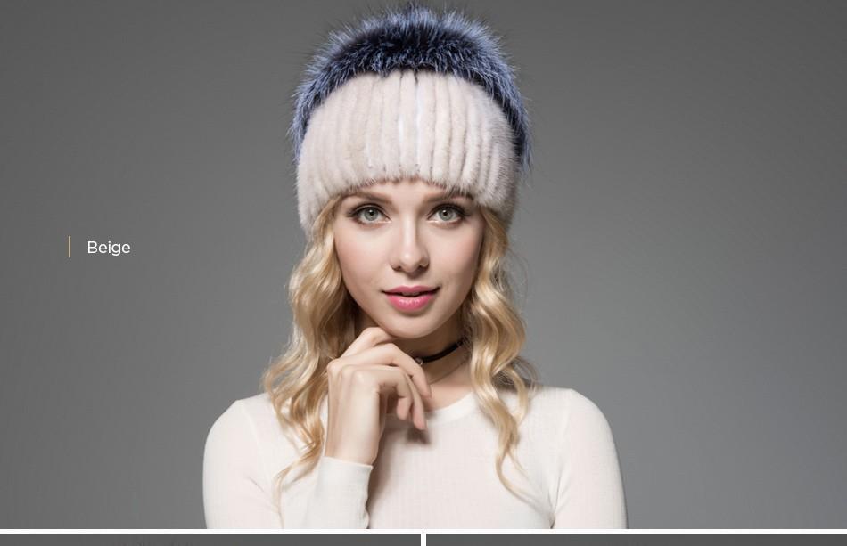 fur woman winter hats PCM012 (12)