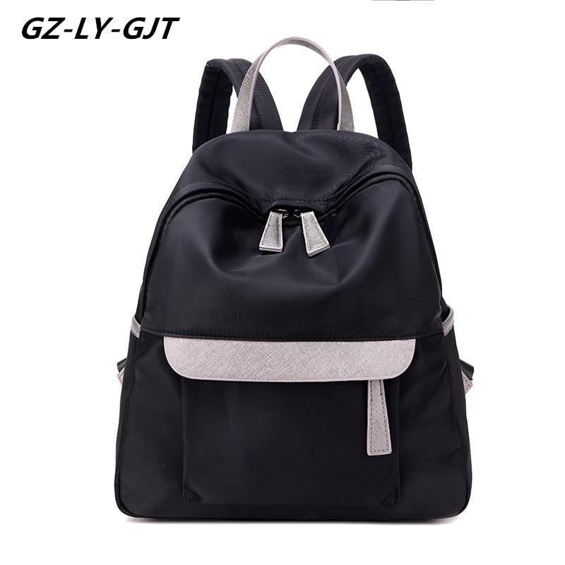 GZ LY GJT School Bags for Girls Student Fashion Brand Backpacks For Teenage BackPack Women Female