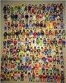 2016 Venta Caliente 10 unids/lote 7.5 cm ABS playmobil paleta pop juguetes pequeños Bloques de figuras Caballeros figuras castillo niño al azar juguete