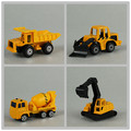 1:64 boxed genuine simulation alloy Construction vehicles model alloy model  color  series Children's toy pull back 4PCS/SET