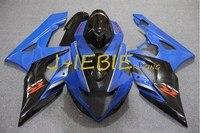 Blue black Injection Fairing Body Work Frame Kit for SUZUKI GSXR 1000 GSXR1000 K5 2005 2006
