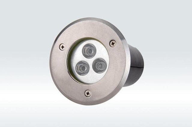 3*1W led underground light, size:dia120*65mm;12/24V input,45/60 beam angle, RGB color,please advise for order