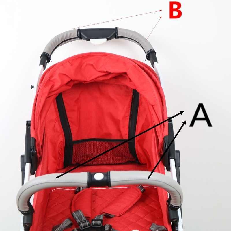 2 ชิ้น/เซ็ตรถเข็นเด็กอุปกรณ์เสริมหนังครอบคลุมจับรถเข็นรถเข็นเด็กทารกที่เท้าแขน Pu สำหรับ Yoyaplus