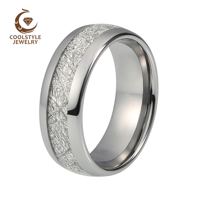 carbide gold jewelry tungsten inlay imitated fit dp mens comfort meteorite band bands plated ring rings wedding