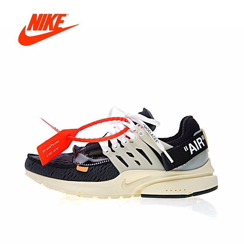 Оригинальный Новое поступление Аутентичные Nike Air Presto x Off White для мужчин дышащие кроссовки Спорт на открытом воздухе спортивная обувь AA3830-001